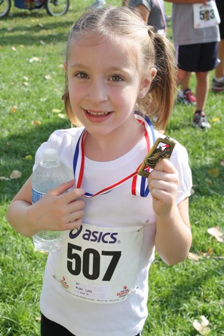 Lydia after race, July 4, 2013